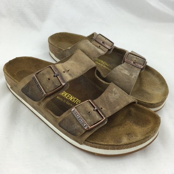 cb471bd03e4 Birkenstock Shoes - Birkenstock Arizona sandals 2 strap brown leather